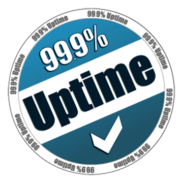 graphic that says: 99.9 percent uptime